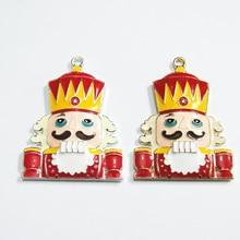 Più nuovo 45 millimetri * 37 millimetri 10 pz/lotto Collana In Lega di Zinco Di Natale Pendenti con gemme e perle Per Gioielli Vistosi