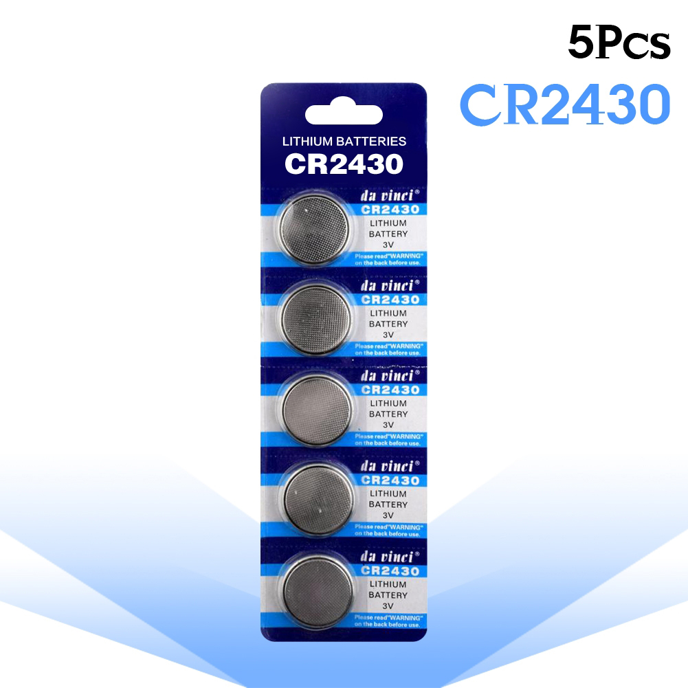 YCDC 5pcs CR2430 Li-Po Lithium Button Coin Cell DL2430 BR2430 ECR2430 KL2430 KCR2430 L20 Watch Battery Replacement Batteries
