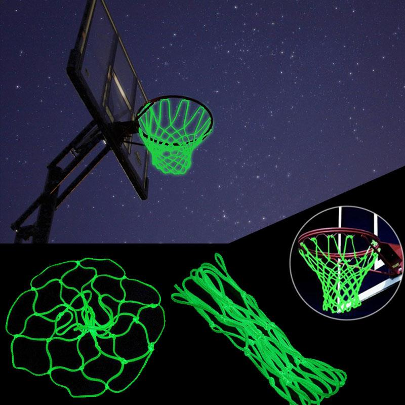 45cm Nylon Yellow Luminescence Athletic Sports Basket Net Backboard Basketball Field Outdoors Basketball Net Match Luminoso