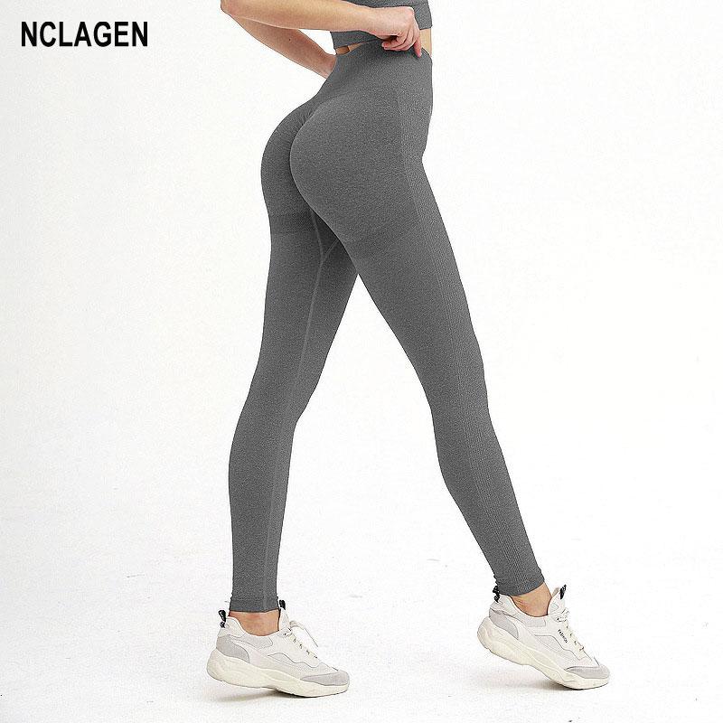 Женские штаны для йоги, эластичные бесшовные спортивные Леггинсы для фитнеса, спортивные Леггинсы с высокой талией и эффектом пуш-ап, легги...