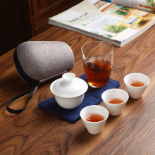 Travel tea sets  carrying case Quick Kettle Cup Kung Fu Teapot Teacup Cover Bowl cup cans set Free shipping