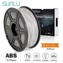 SUNLU ABS 1.75mm new filament 1.75mm 2.2LBS/1KG with Spool 3d printer filament 3d printing refills for kids designing toys