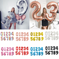 16 32 40 дюймов Цвет серебристый, Золотой воздушные шары из фольги в виде цифр цифровой Globos день рождения Свадебная вечеринка декорации шарики ...