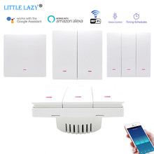 1/2/3gang Smart WiFi Light Switch Push Button Tuya APP Remote Control Smart Home Automation Works With Alexa Google Assistant