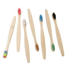 10pcs mixed color bamboo toothbrush Eco Friendly wooden Tooth Brush Soft bristle adults oral care toothbrush