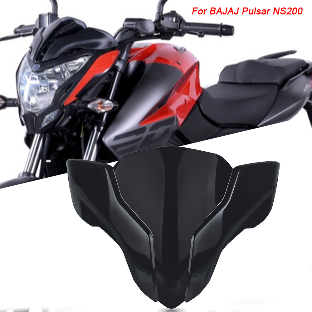 Motorcycle Windshield For <font><b>BAJAJ</b></font> Pulsar NS200 <font><b>NS</b></font> <font><b>200</b></font> 2017 2018 2019 2020 Wind screen Plastic Air Deflectors Protector Accessories image