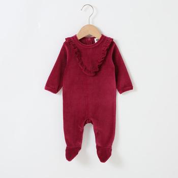 Śpioszki dla niemowląt z długim rękawem odzież dla dzieci kombinezony dla dzieci odzież dla chłopców odzież dla dziewczynek kombinezon dla dzieci falbany footies pajacyki tanie i dobre opinie Bloom Baby CN (pochodzenie) Unisex Poliester COTTON Moda W wieku 0-6m 7-12m 13-24m 25-36m 3-6y S19020 Patchwork O-neck Body