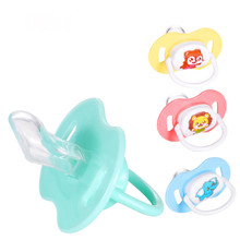 1PCs Orthodontics Pacifiers Baby Cotton Animals Printing Safe Food Grade Silicone Cute Baby Round and Flat Nipples Pacifiers(China)