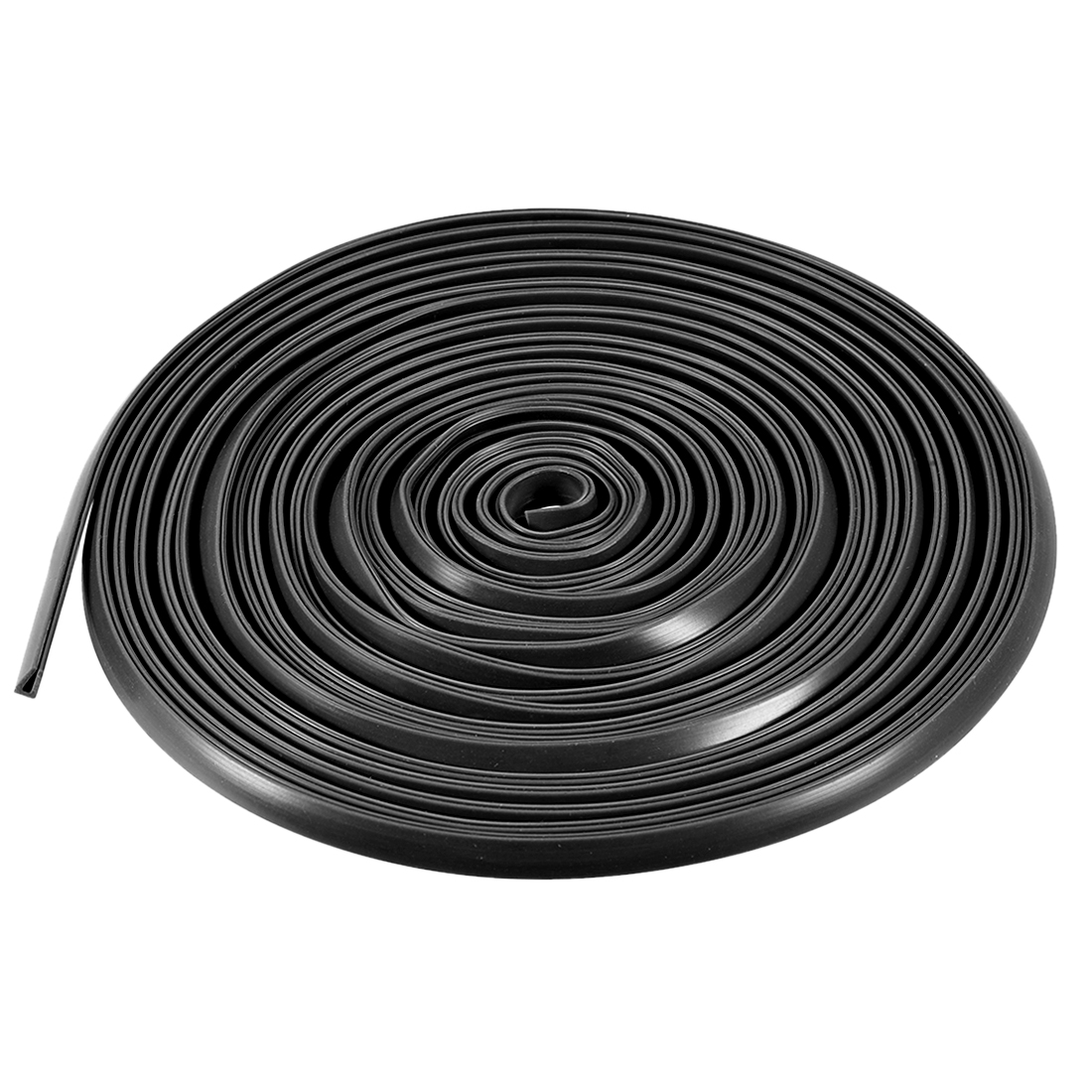 Uxcell 5M/16.4Ft Length Edge Trim U Seal Extrusion U Channel Edge Protector Sheet Fits 0.1-1.5mm Edge Silicone Black