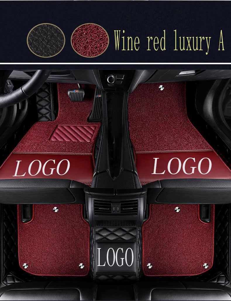 Araba paspaslar ile Logo/marka logosu Lexus J200 LX 570 LX570 RX 200T RX350 RX270 ES250 ES300H ES350 5D araba-styling halı kilim