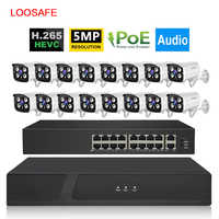 16CH 5MP POE NVR Sicherheit System Kit Outdoor 1080p Wasserdichte P2P IP Cam HDD Onvif CCTV Audio Video Überwachung kamera