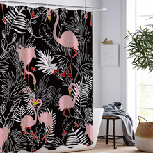 Flamingo Shower Curtains Waterproof Polyester Fabric Washable Bathroom Curtain Screen with Hooks Accessories Soft