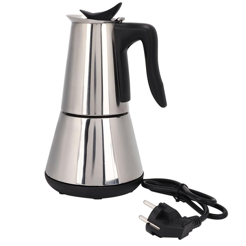 Электрическая кофеварка, 6 чашек/300 мл, 304 нержавеющая сталь, кофейники, Moka Pot, Mocha, кофейная машина, фильтр для эспрессо, cafetera|Кофейники|   | АлиЭкспресс