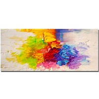 Handmade Thick Impasto Colorful Abstract Canvas Oil Painting Wall Art Picture Living Room Bedroom Home Decor Drop Shipping