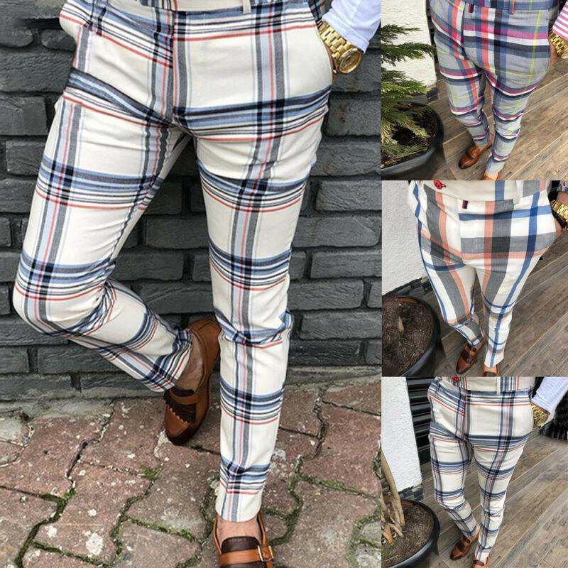 Casual Plaid Ankle-Length Pants Men Trousers Hip Hop Jogger Pants Men Sweatpants Japanese Streetwear Men Pants 2019 New
