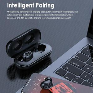 Image 2 - B5 TWS Bluetooth 5.0 Wireless Earphone Touch Control Earbuds Waterproof 9D Stereo Music Headset With 300mAh Power Bank