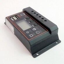 ШИМ Солнечный контроллер заряда 20A 12V 24V Авто lcd солнечное зарядное устройство с двойным USB выходом 20A солнечный PV регулятор для PV системы