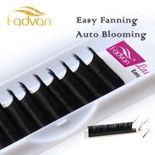 Fadvan Easy Fan наращивание ресниц DIY 2d/3d/5d/6d искусственные норковые ресницы шелковые объемные ресницы для наращивания 0,07 мм толщина Авто цветение