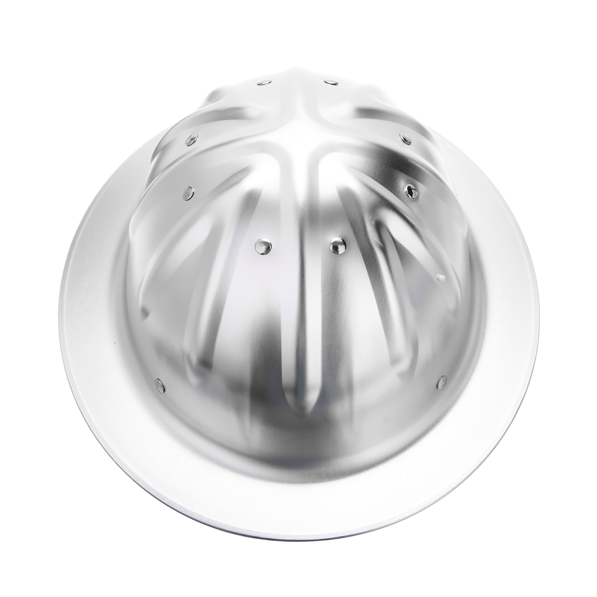 1pc Silver Full Brim Construction Safety Helmet High Hardness Aluminum Hard Hat Protection For Railway Metallurgy Coal Mine