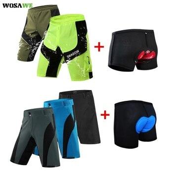 цена на WOSAWE Summer MTB Shorts Cycling Shorts Men Mountain Bike Bicycle Short Downhill Waterproof Shorts Anti-sweat Quick Dry