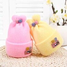 Rabbit Ear Baby Hats Woolen Newborn Turban Beanie Warm Caps Soft Hat For Childern Girls Boys Elastic Bonnet Autumn Winter 2019 стоимость