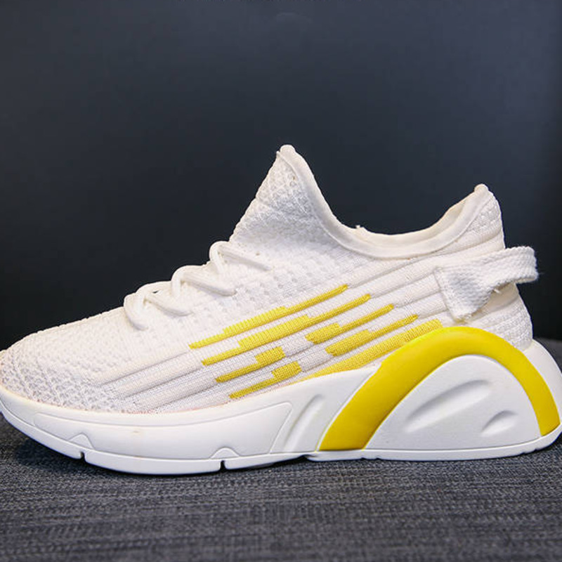 Women Designers Chunky Sneakers INS Ulzzang Mesh Breathable Yellow Casual Woman Shoes Platform Fashion Female Lace Up Trainers