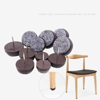 KK&FING 30 Pcs Chair Table Furniture Leg Bottom Feet Glides Skid Tile Plastic Pad Floor Nail Non-slip Wood Floor Protector Nail