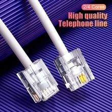 SAMZHE Telefon Verlängerung Kabel Telefon Kabel mit 1 in Linie Koppler Kabel Draht Linie mit Standard RJ11 Stecker