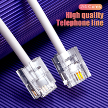 SAMZHE Telephone Extension Cord Phone Cord with 1 in Line Coupler Cable Wire Line with Standard RJ11 Plug