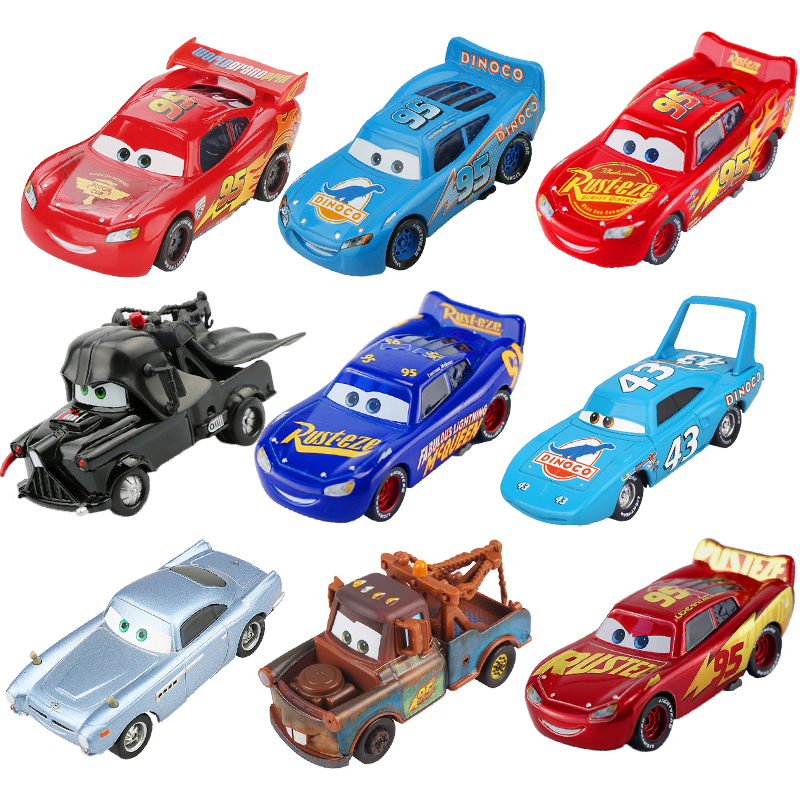 Disney Pixar Cars 3 Lightning McQueen Jackson Storm Mater 1:55 Diecast Metal Alloy Model Car Toy Christmas Gift Children Boys(China)