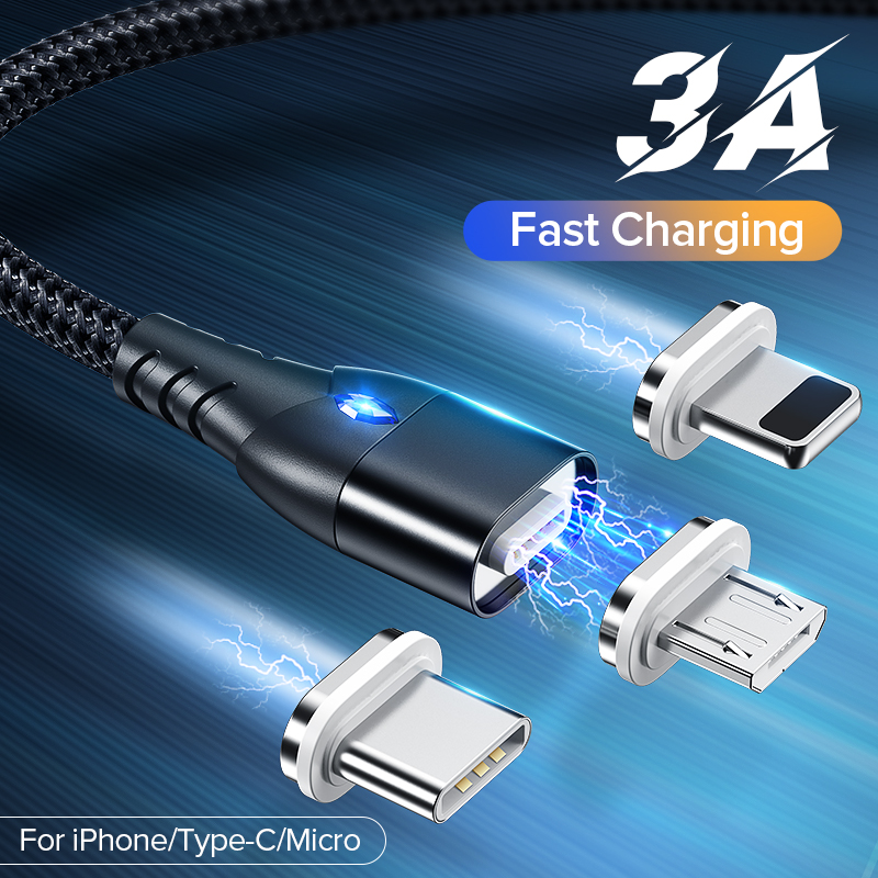 Magnetic usb phone charging cable