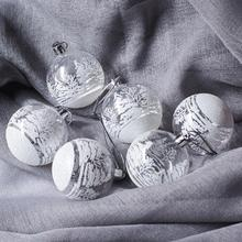 6Pcs Transparent Christmas Decorations Ball Openable 6cm Clear Snowflake Bauble Ornament Gift Box Xmas Tree Hanging Pendent