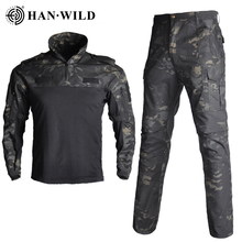 uniforme militar men tactical hunting clothing black python camouflage hunting clothes women army combat multicam shirt pants Military Clothing Multicam Tactical Uniforms Camouflage Airsoft Cargo Trousers Army Militar Suit US Army Combat Shirt+Pants