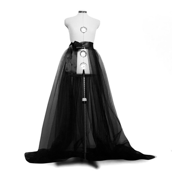 Kobiety Tulle Tutu długie spódnice Wedding Party Prom bandaż Mesh suknia Maxi spódnica panie kostium lato Gothic spódnica moda 2019 nowy