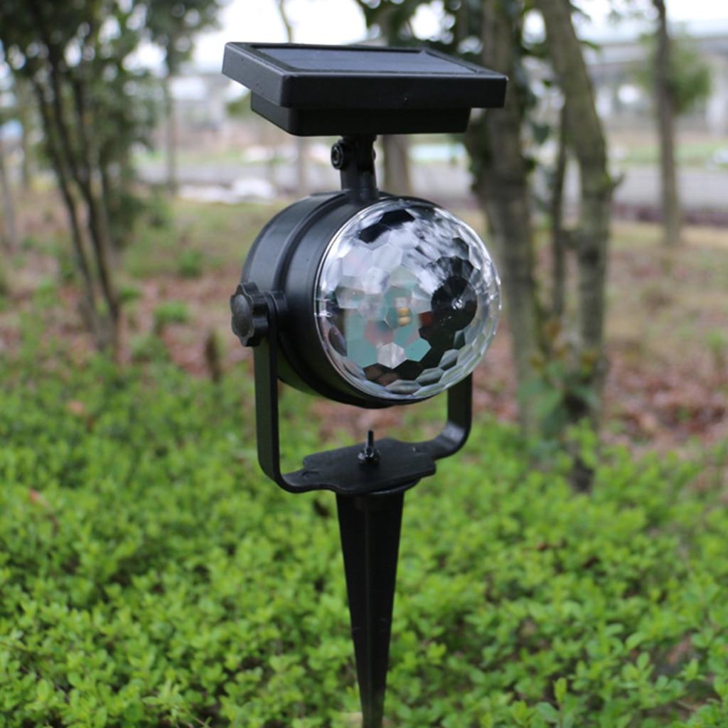 jardim luz rotativa lâmpada de projeção led