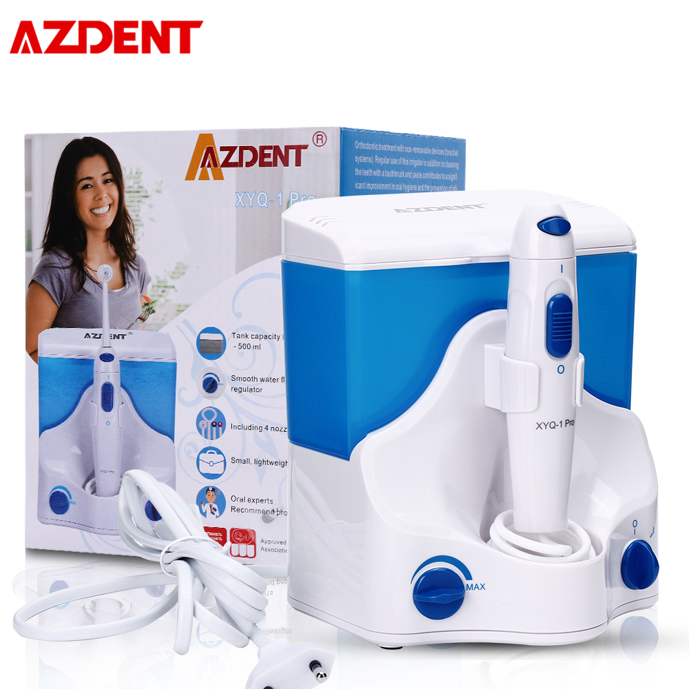 AZDENT Family Oral Irrigator Water Dental Flosser Orthodontic Strong Pulse Oral Scaler Remove Dental Calculi Caries Adult Child
