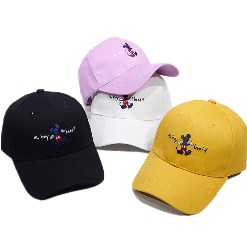 Cartoon Minnie Mickey Baseball Cap Women Man Sport Caps Cute Anime Hat Summer Girls Sun Hat Casual Snapback Gorra Casquette Gift