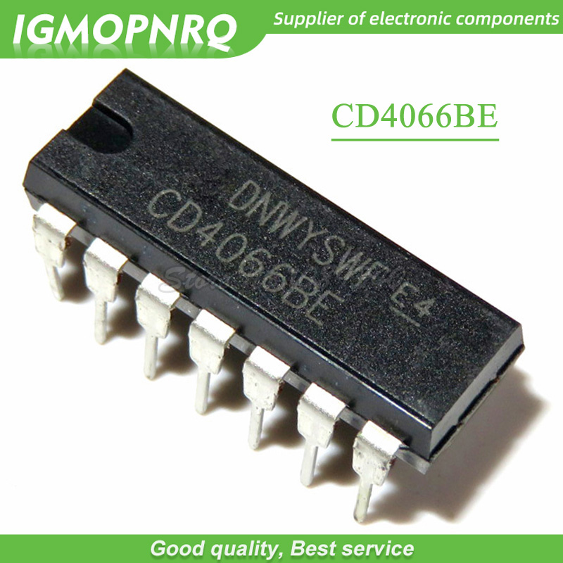 10pcs/lot <font><b>CD4066</b></font> CD4066BE DIP-14 logic chip bi-directional switch New Original image