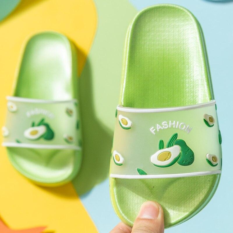 padrão de frutas interior chinelos de bebê