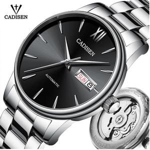 Image 1 - CADISEN גברים שעון אוטומטי מכאני ספיר יוקרה מותג 50ATM עמיד למים שעון זכר Reloj Hombre Relogio Masculino