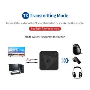 Image 3 - Odbiornik Bluetooth 5.0 nadajnik 3.5mm AUX Jack muzyka bezprzewodowy Adapter Audio połączenie bezprzewodowe i mikrofon NFC zestaw samochodowy do telewizora Auto ON