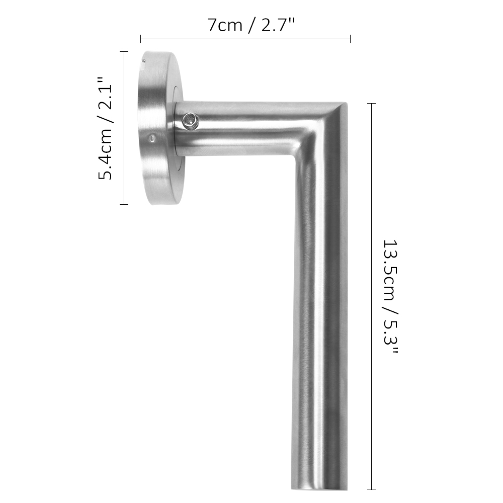 Wc Stainless Steel Door Fittings Chrome Handle Set Bb Pz