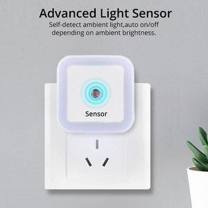 Image 2 - Kablosuz sensör LED gece lambası Mini kare indüksiyon gece lambası ab abd Plug çocuk çocuk odası oturma odası ışık