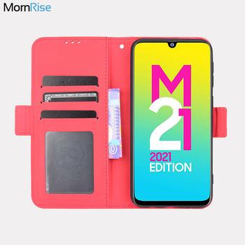 Do Samsung Galaxy M21 2021 portfel etui magnetyczne Book odwróć pokrywa dla Samsung M21 2021 posiadacz karty zdjęcie luksusowe skórzane Fundas tanie i dobre opinie Mornrise CN (pochodzenie) Etui z portfelem Odporna na odciski palców Anti-Scratch Kieszeń na kartę Kurzoodporny Z podstawką
