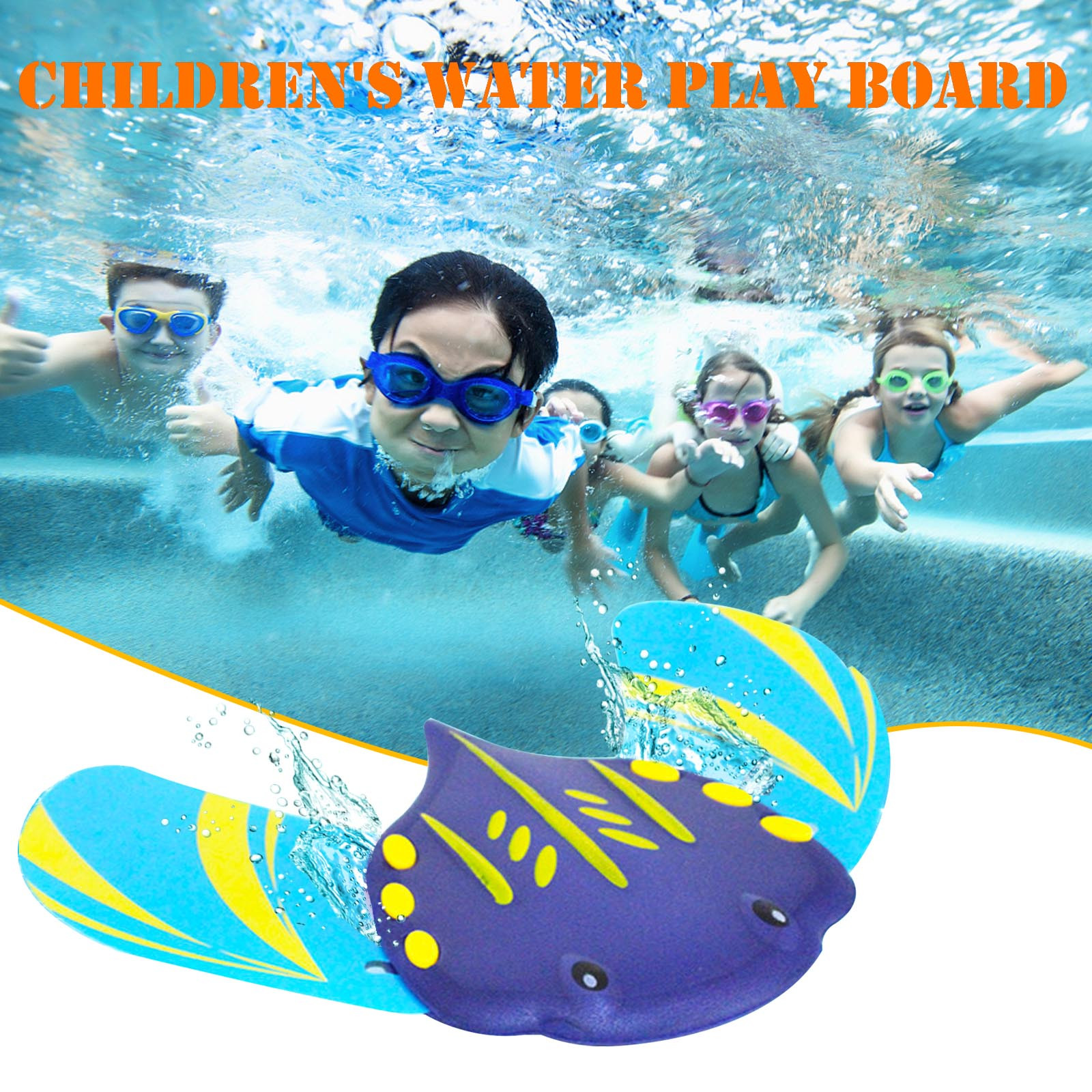 Water Power Devil Fish Underwater Glider Toy Beach Seaside Swimming Pool Sand Table Toy Swimming Toys For Kids