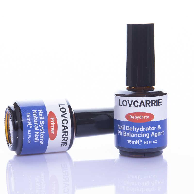 Lovcarrie 2 Pcs/set Kuku Pengering dan Primer Kuku Profesional Uv Gel Sistem Akrilik Digunakan Dasar Bonder Cair untuk Kuku Gel seni
