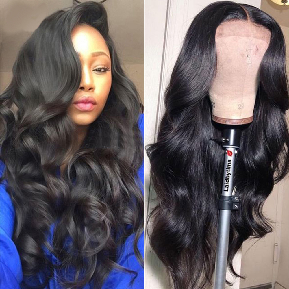 Lace Closure Wig 100% Human Hair Wigs For Black Women Malaysian Body Wave Prepluck With Baby Tangle Free Beaudiva Closure Wig