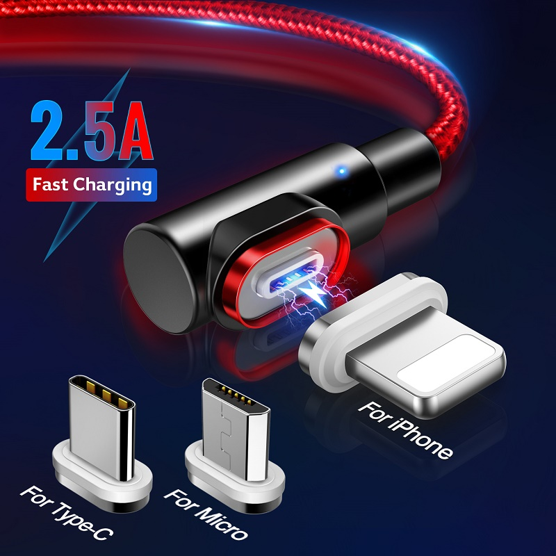 GETIHU Magnetic Cable Type C Magnet Phone Charger Micro USB Fast Charging Data Cord For iPhone 12 11 Pro Max 8 7 Samsung Xiaomi|Mobile Phone Cables|   - AliExpress
