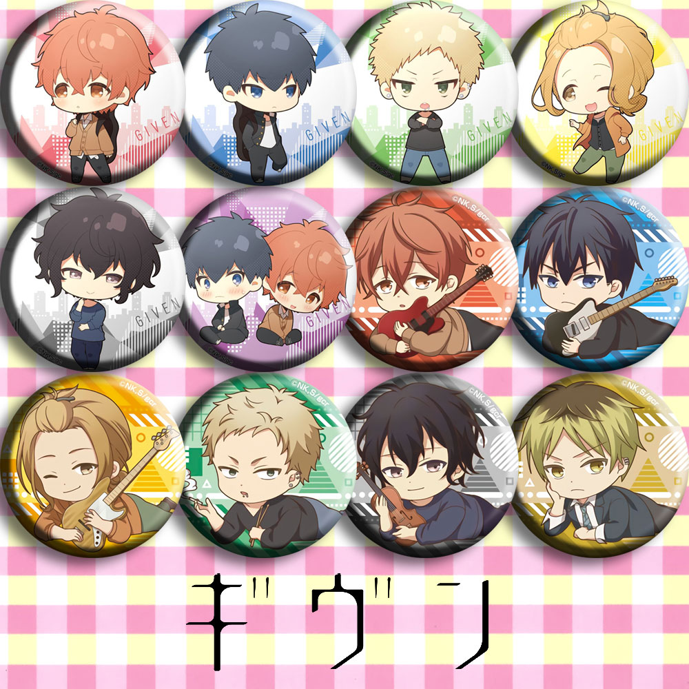 10PC Set Black Butler Ciel Badge Anime Pins PVC Button Brooch Collection Gift
