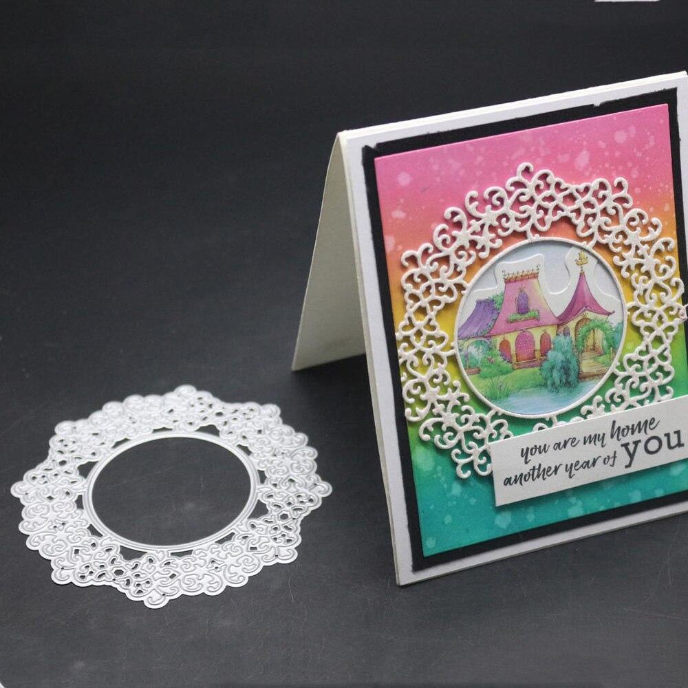 Circle Frame Metal Cutting Dies Circular Lace Decoration Scrapbooking Troqueladora Stencil Stamps And Dies 2019 New Craft